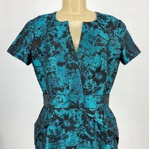 Nue by Shani Metallic Sheath Dress Elegant Modern